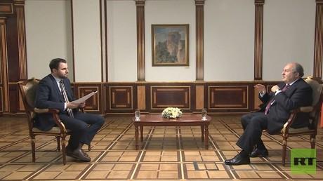 Armenischer Präsident im Exklusivinterview mit RT: