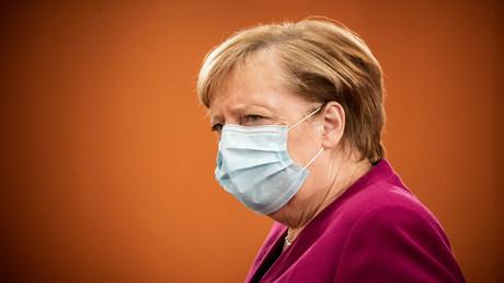 Bundeskanzlerin Angela Merkel bei der Ankunft zur wöchentlichen Kabinettssitzung am 14. Oktober.