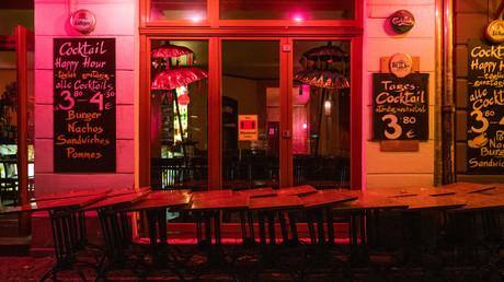 Eine Bar im Berliner Bezirk Friedrichshain
