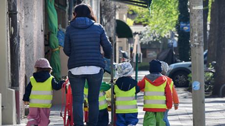 Ausflug mit einer Kindergartengruppe in München, 17. April 2018. (Symbolbild)