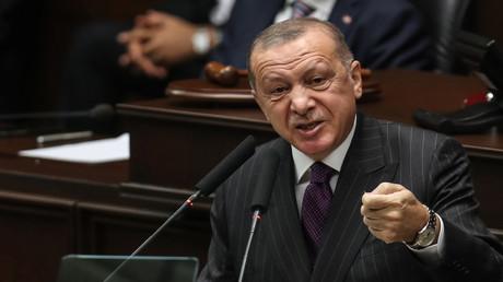 Der türkische Präsident Recep Tayyip Erdoğan. 14. Oktober 2020