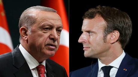 Der türkische Präsident Recep Tayyip Erdoğan griff seinen frazösischen Amtskollegen Emmanuel Macron an.