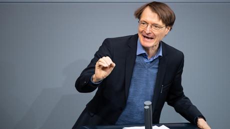 SPD-Gesundheitsexperte Karl Lauterbach in Aktion...