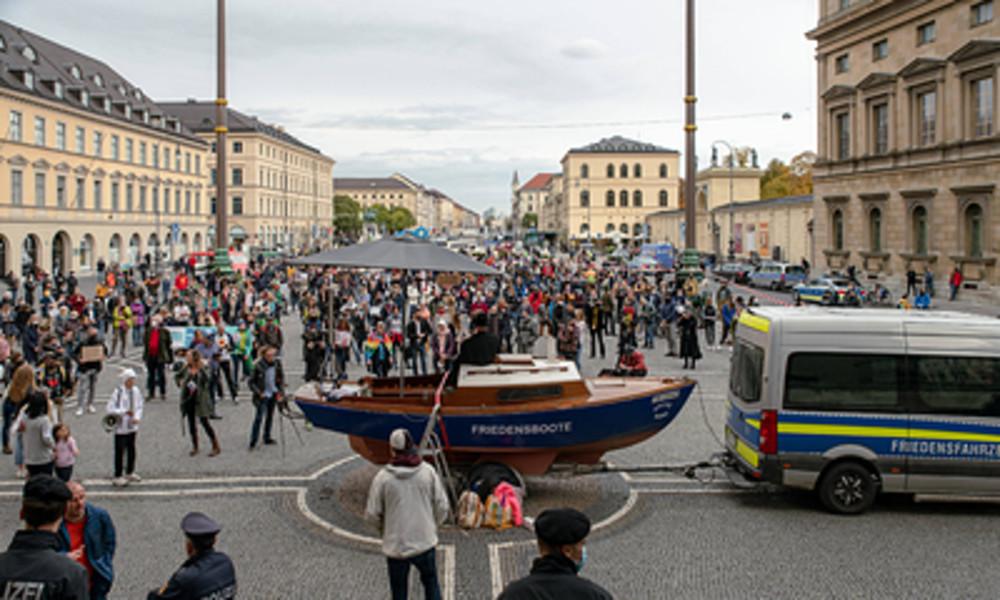 LIVE: Anti-Corona-Protest in München