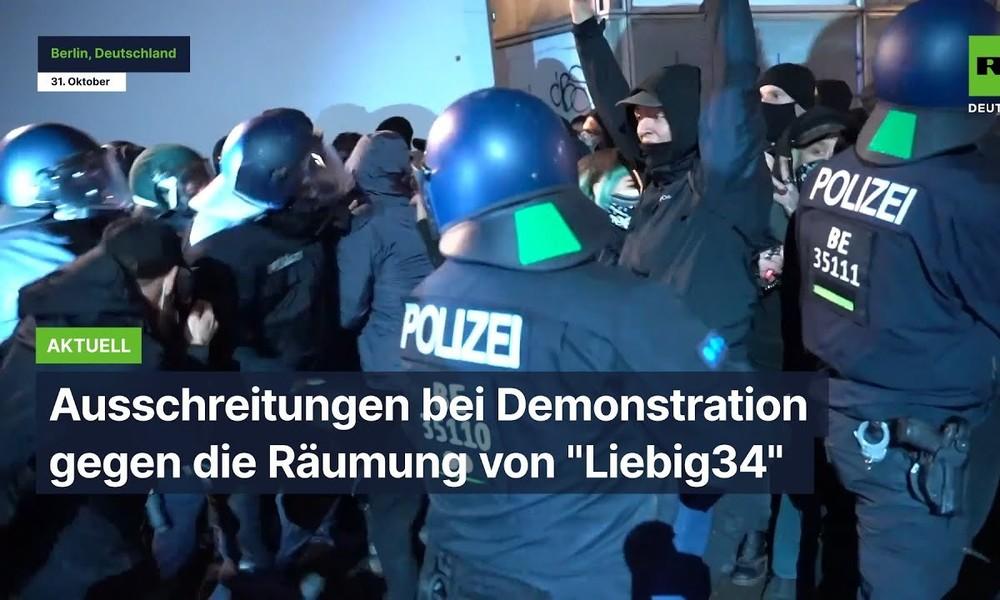 """Neue Ausschreitungen bei Demonstration gegen die Räumung von """"Liebig34"""""""