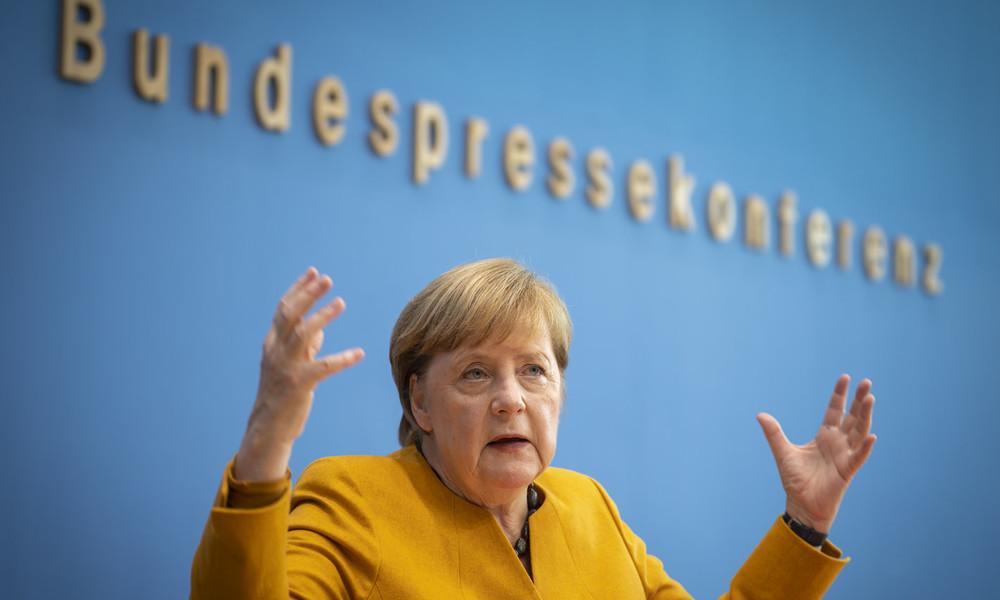 """Bundeskanzlerin Merkel auf Bundespressekonferenz zu neuem Lockdown: """"Virus bestraft Halbherzigkeit"""""""