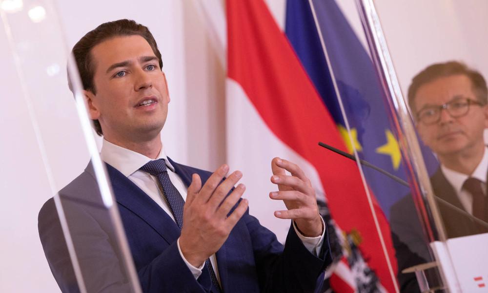 Pressekonferenz von Bundeskanzler Kurz nach Terrorangriff in Wien