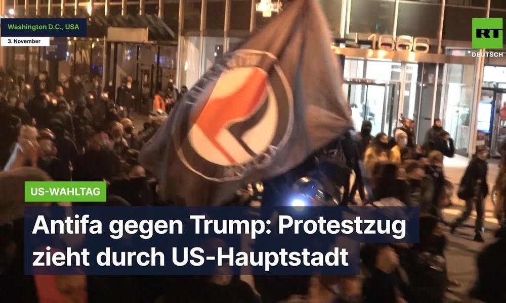 Antifa gegen Trump: Protestzug zieht durch US-Hauptstadt