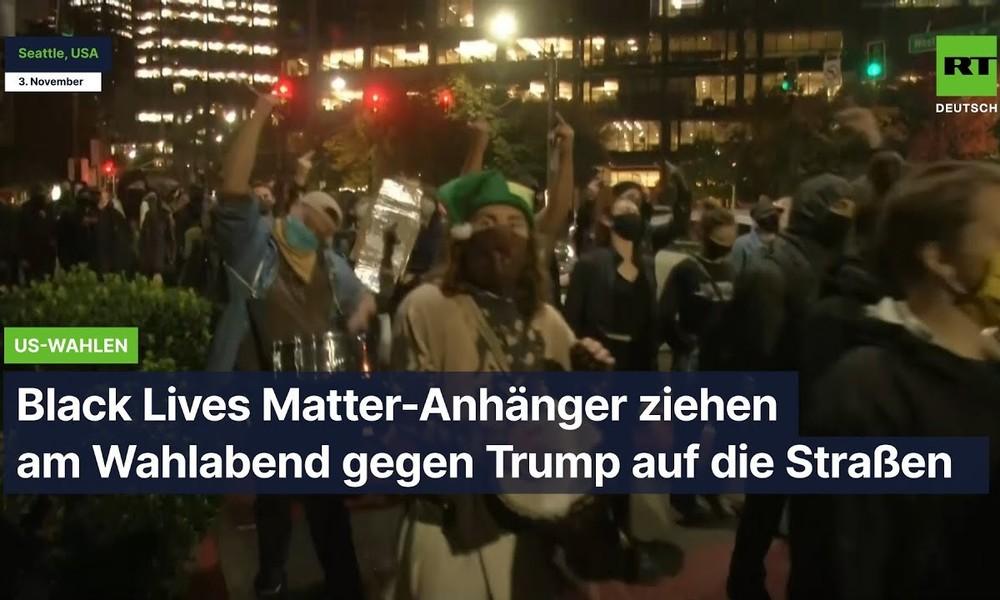 Seattle: Black Lives Matter-Anhänger ziehen am Wahlabend gegen Trump auf die Straßen