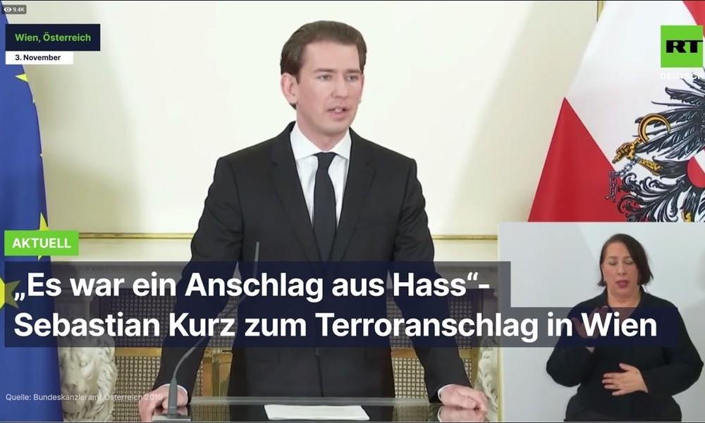"""""""Es war ein Anschlag aus Hass"""" – Sebastian Kurz zum Terroranschlag in Wien"""