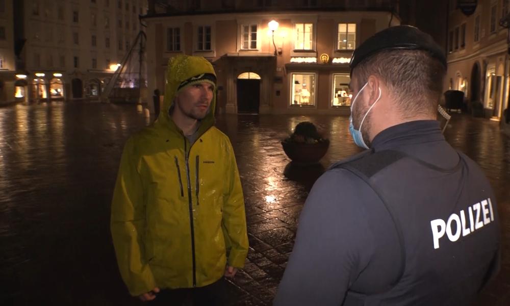Österreich: Ausgangssperre soll mit massiver Polizeipräsenz durchgesetzt werden (Video)