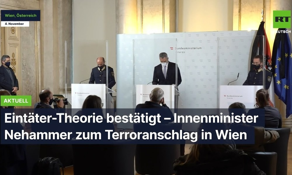 """""""Ein-Täter-Theorie"""" bestätigt – Innenminister Nehammer zum Terroranschlag in Wien"""