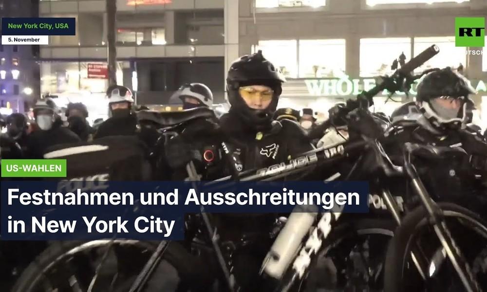 Nach den Wahlen: Festnahmen und Ausschreitungen in New York City