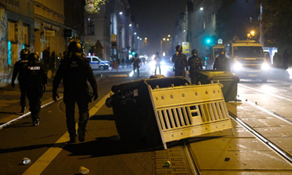 Ausschreitungen in Leipzig: Festnahmen und Gewalt gegen Polizisten
