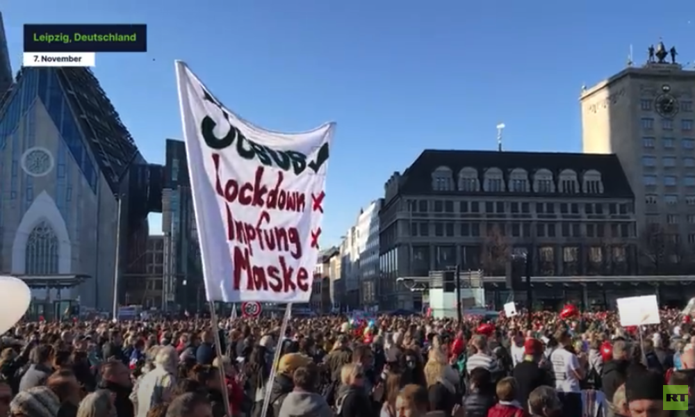 "RT Deutsch bei ""Querdenkenker""-Demo in Leipzig (Video)"