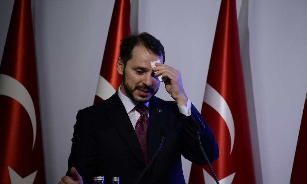 Türkei: Finanzminister und Schwiegersohn von Präsident Erdoğan tritt zurück