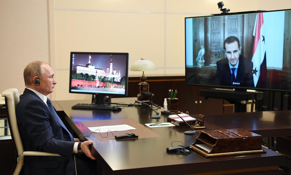 Assad spricht in einer Videokonferenz mit Putin über Rückkehr der syrischen Flüchtlinge