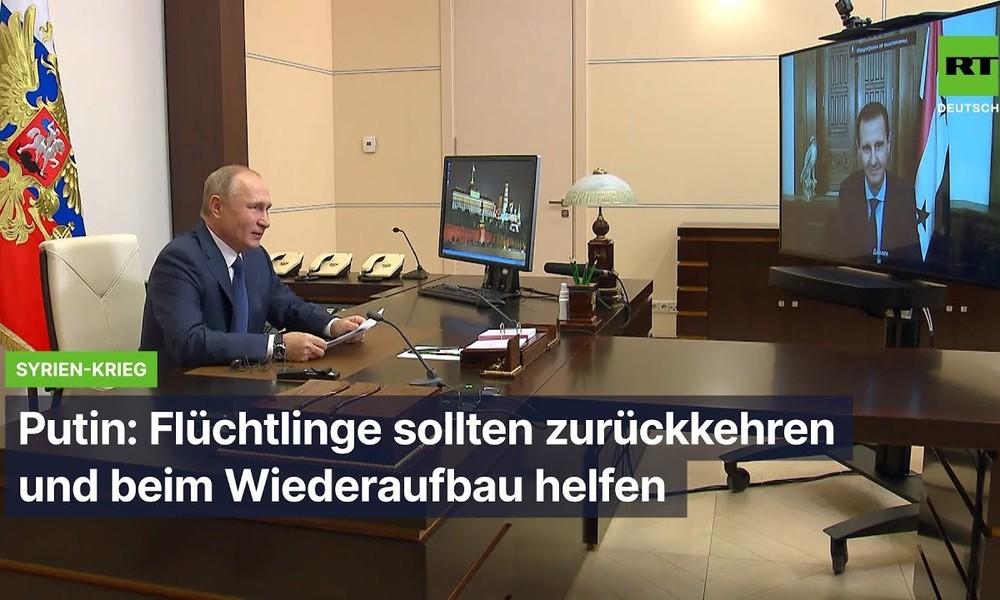Putin: Syrische Flüchtlinge sollten zurückkehren und beim Wiederaufbau helfen
