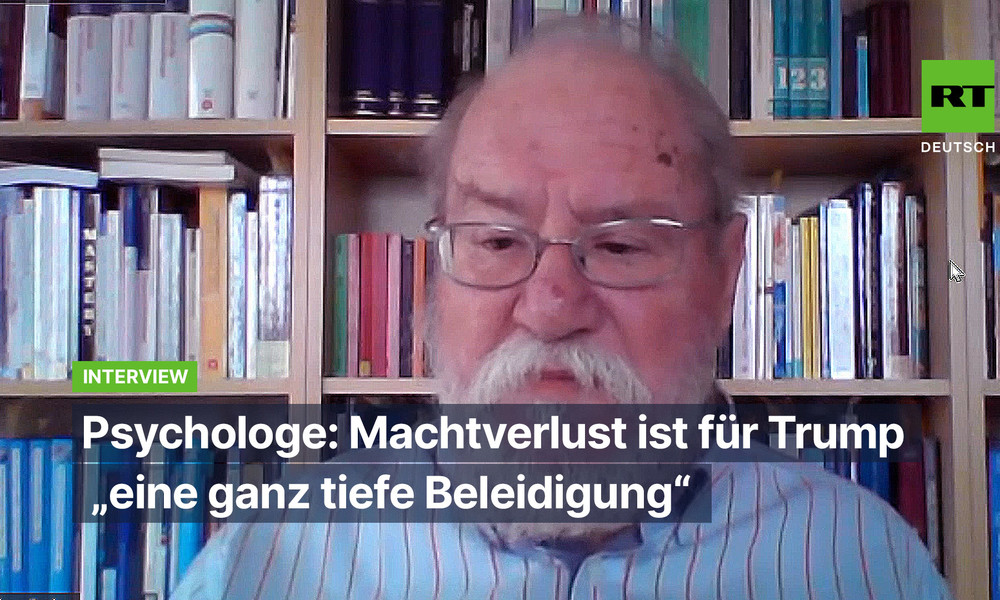 """Psychologe Prof. Dr. Rainer Sachse: Machtverlust ist für Trump """"eine ganz tiefe Beleidigung"""""""