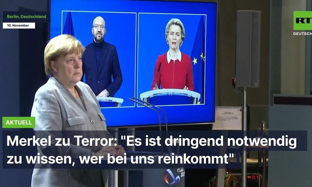 """Merkel zu Terror: """"Es ist dringend notwendig zu wissen, wer bei uns reinkommt"""""""