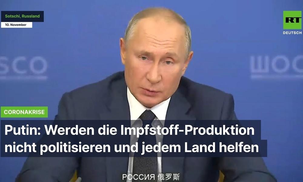 Putin: Werden die Impfstoff-Produktion nicht politisieren und jedem Land helfen
