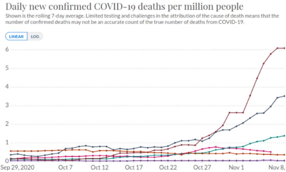 Laut Statistik: Länder mit Lockdown haben höhere Sterberate