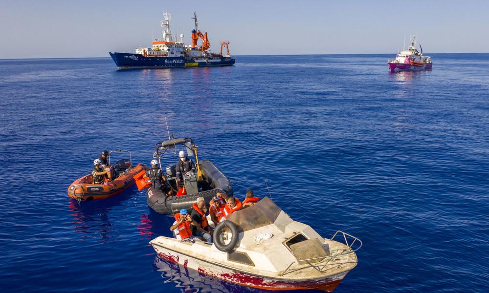 Mehr als 90 Flüchtlinge bei Bootsunglücken vorLibyenertrunken