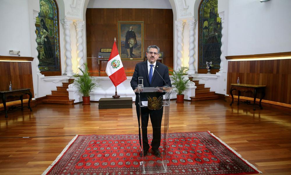 Fünf Tage Amtszeit: Übergangspräsident Perus nach Protesten zurückgetreten