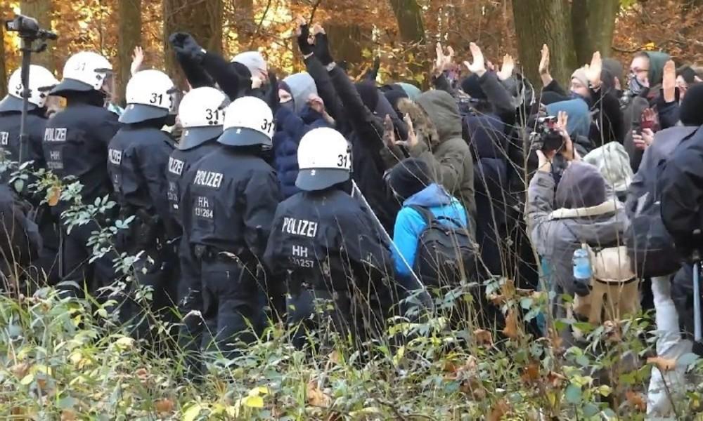 Aktivistin bei Räumung des Dannenröder Forsts in die Tiefe gestürzt