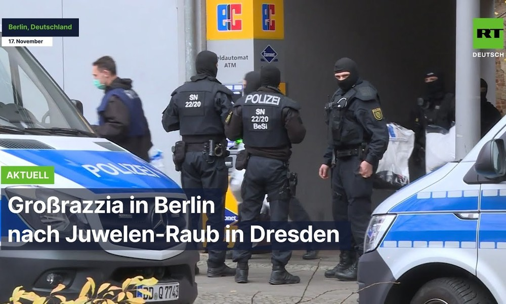 Großrazzia in Berlin nach Juwelen-Raub in Dresden