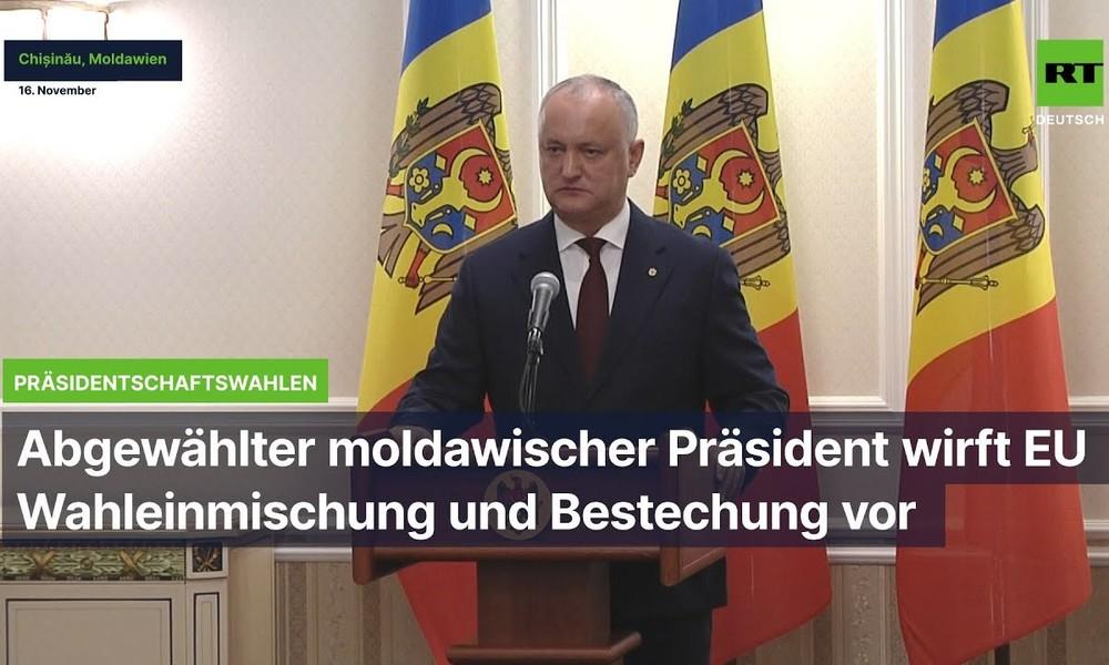 """Präsidentschaftswahlen in Moldawien: """"Beispiellose Einmischung des Westens"""""""