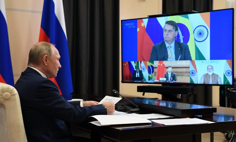 Putin: BRICS-Nationen arbeiten an der Wiederbelebung der Volkswirtschaften nach der Corona-Krise