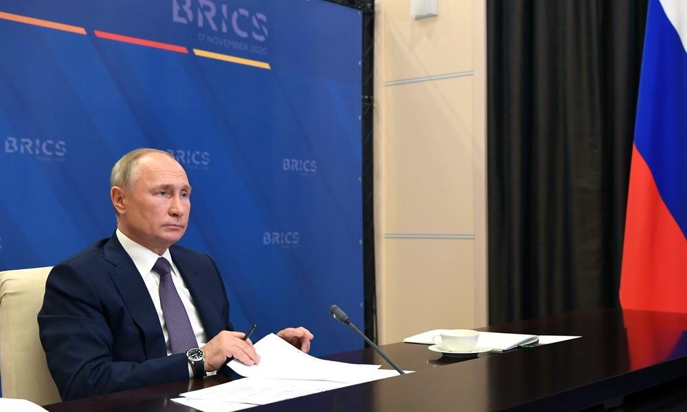 BRICS-Gipfel: Putin fordert pandemiebedingte Aufhebung von Sanktionen gegen ärmere Länder
