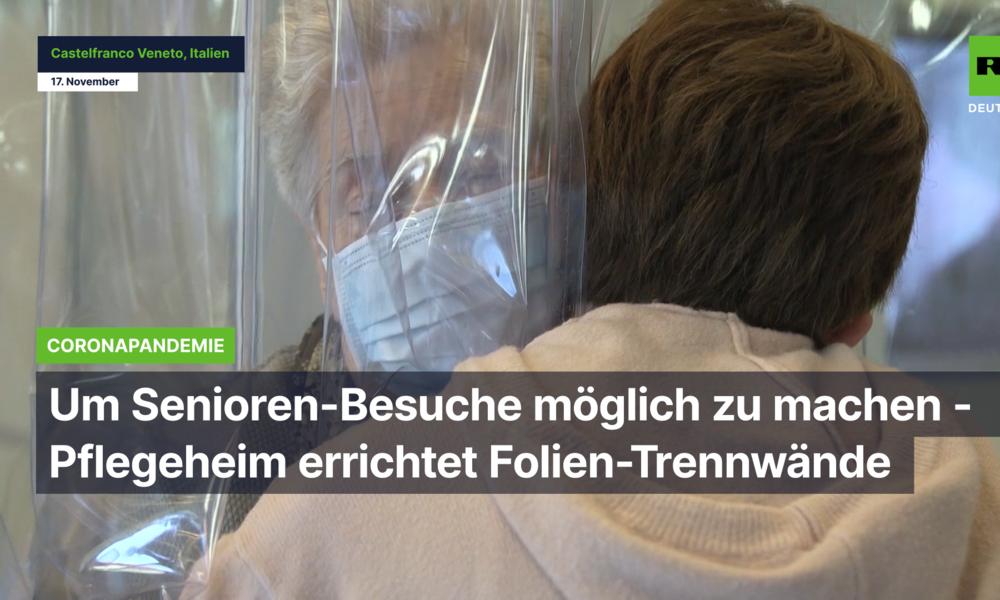 Um Senioren-Besuche möglich zu machen: Pflegeheim errichtet Folien-Trennwände