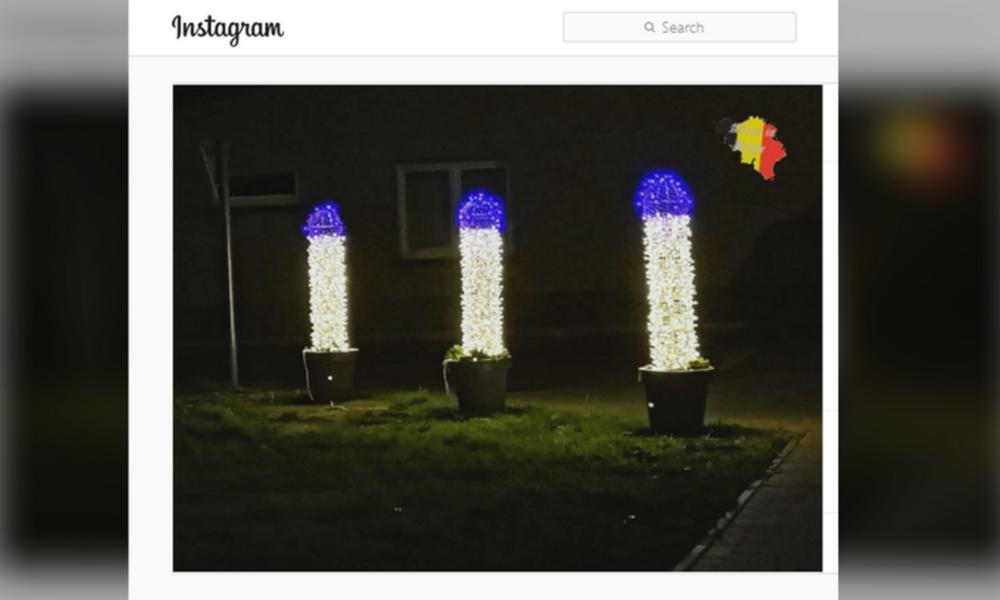 Erotische Weihnachten: Straßendeko in Penisform erregt in Belgien die Gemüter