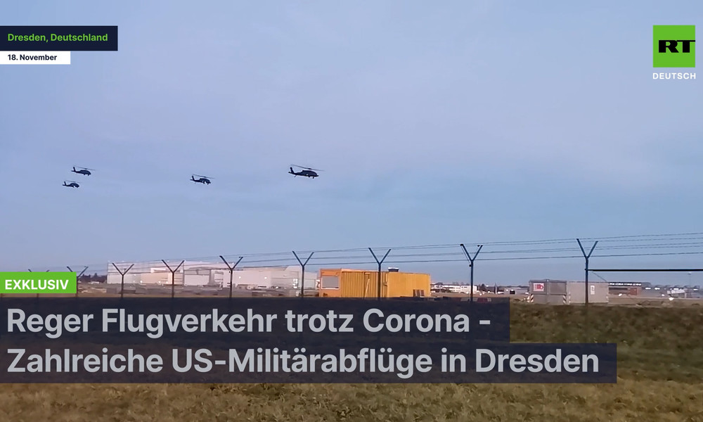 Exklusiv: Reger Flugverkehr trotz Corona – US-Militärstarts am Dresdner Flughafen (Video)