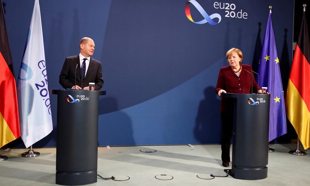 Merkel und Scholz stellen Bürger auf längere und verschärfte Corona-Maßnahmen ein