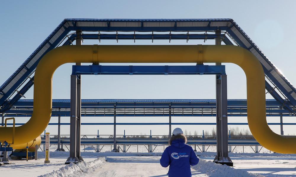 Russlands Erdgaslieferungen nach China erreichen neue Rekordhöhen