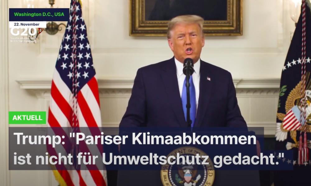 """Trump: """"Pariser Klimaabkommen ist nicht für Umweltschutz gedacht."""""""