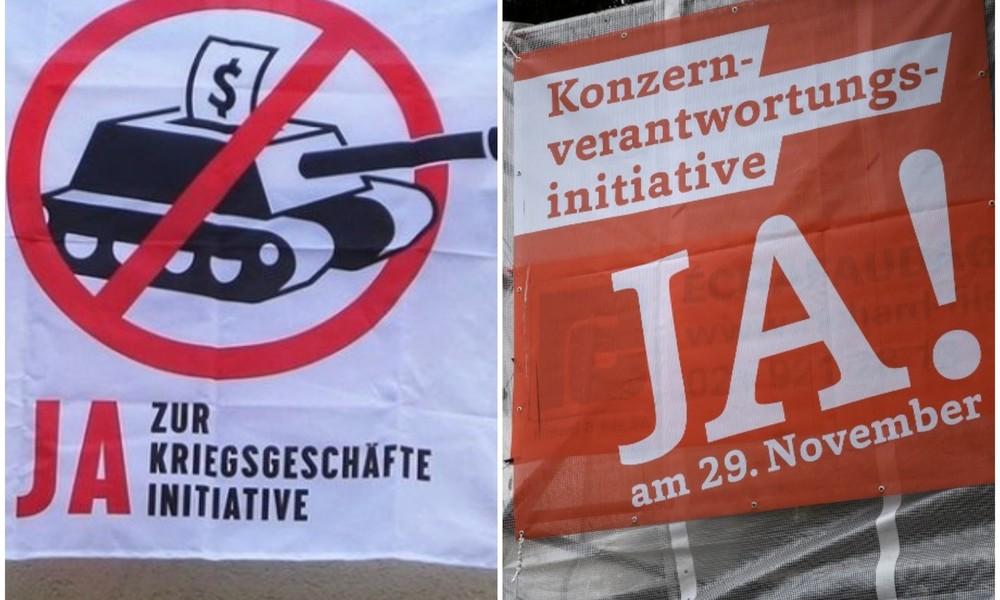 """""""Verantwortliche Konzerne"""" und """"keine Kriegsgeschäfte"""" – Schweiz vor wegweisenden Volksabstimmungen"""