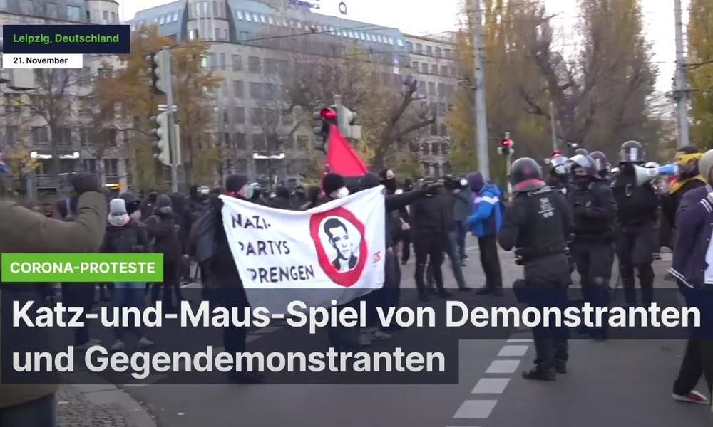 Corona-Proteste in Leipzig: Einsatz von Pfefferspray und Festnahmen