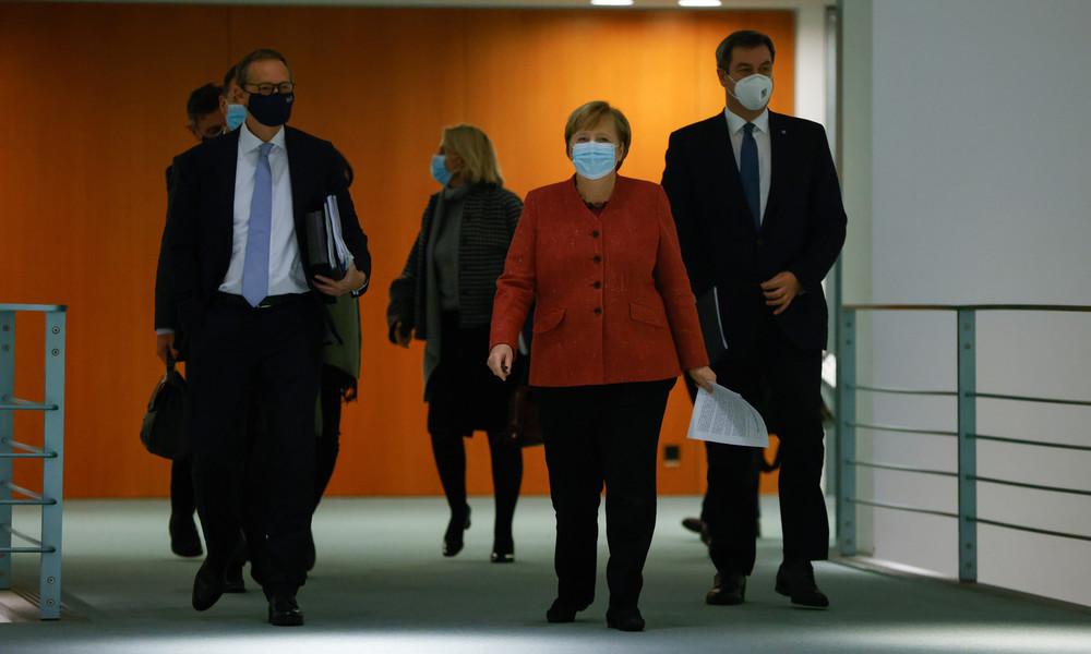 Vor Corona-Gipfel: Merkel fordert schärfere Maßnahmen
