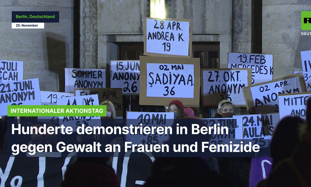 Berlin: Über 1.000 Menschen demonstrieren gegen Gewalt an Frauen