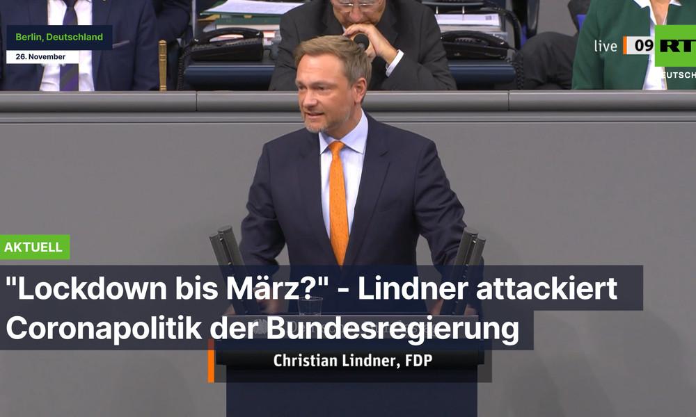"""""""Lockdown bis März?"""" - Lindner attackiert Coronapolitik der Bundesregierung"""