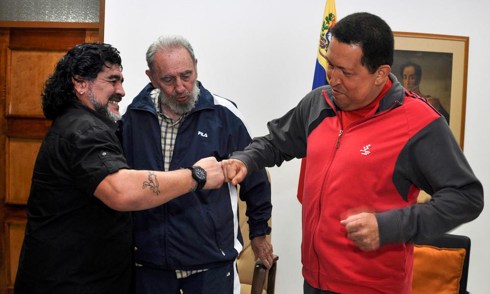 Peronist, Fidels Freund und Bewunderer von Che: Maradonas Verbindungen zur politischen Linken