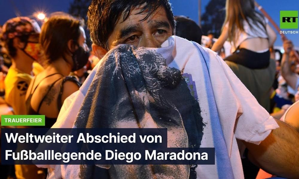 Abschied von Fußballlegende Diego Maradona