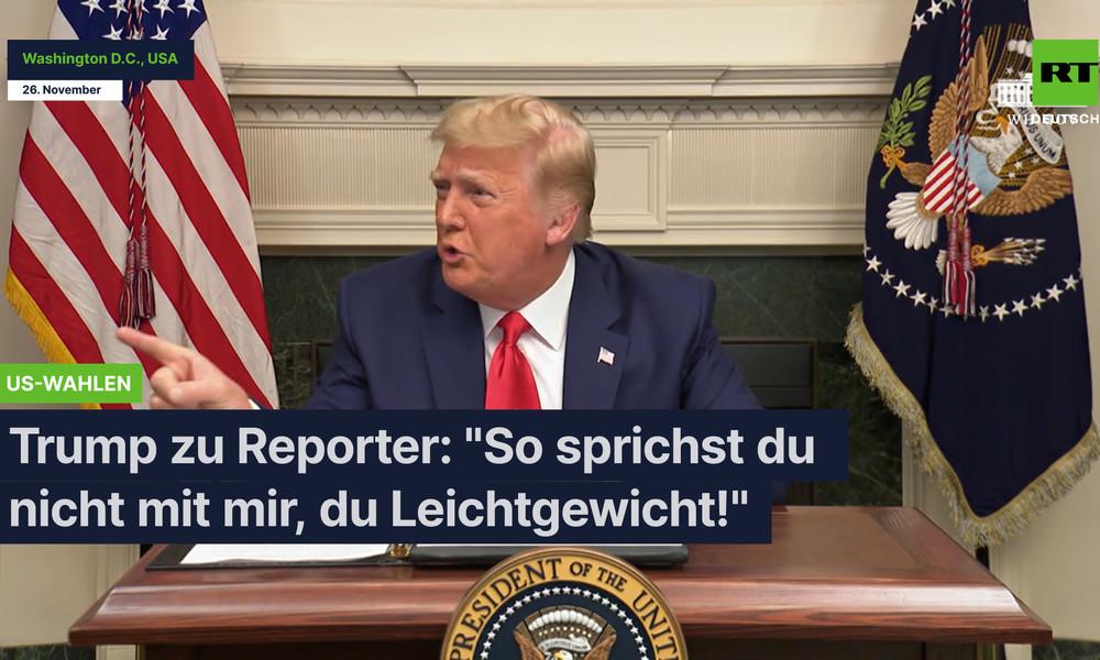 """Trump zu Reporter: """"So sprichst du nicht mit mir, du Leichtgewicht!"""""""