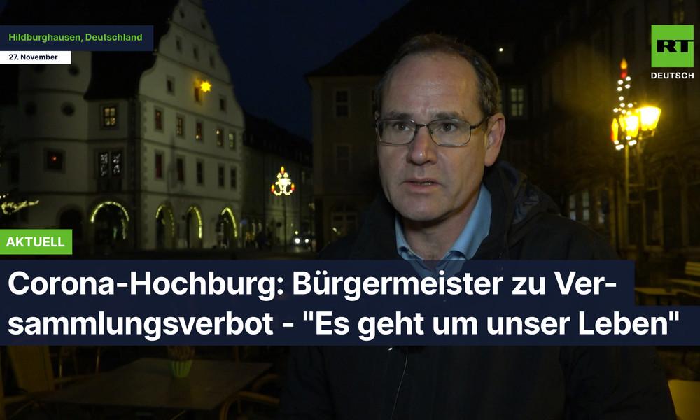 "Corona-Hochburg: Bürgermeister zu Versammlungsverbot - ""Es geht um unser Leben"""