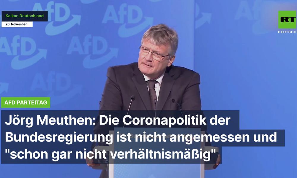 """AfD:Die Coronapolitik der Bundesregierung ist nicht angemessen und """"schon gar nicht verhältnismäßig"""""""