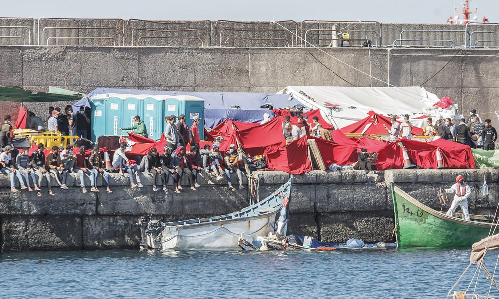 """Gran Canaria: Flüchtlingslager """"Mole der Schande"""" geräumt"""